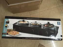 sale electric triple 3x1 5qts slow cooker buffet warmer food
