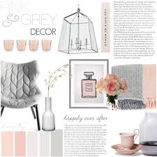 pink u0026 grey feminine decor polyvore