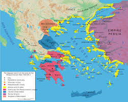 Physical Map Of Greece by File Map Peloponnesian War 431 Bc En Svg Wikimedia Commons