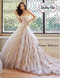shabby chic couture collection frothy tulle sweetheart gown
