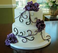 108 best cakes images on pinterest purple ribbon silver