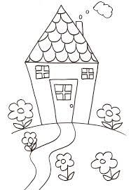 coloriage dune maison dessin n°5  Tête à modeler