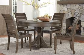 bayside crossing chestnut round dining room set from liberty