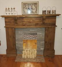 pallet fireplace mantel