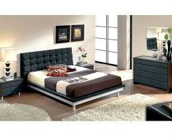 Black Modern Bed Frame Modern Bedroom Set In Black Made In Spain 33b51