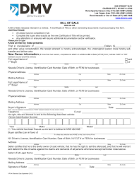 Free Bill Of Sale Car by Nevada Vehicle Bill Of Sale Form Vp 104 Eforms U2013 Free Fillable