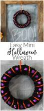 Easy Halloween Wreath by Easy Mini Halloween Wreath Domestically Creative