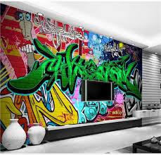 popular wallpaper sticker graffiti buy cheap wallpaper sticker custom 3d photo wallpaper mural kids room non woven wall sticker color graffiti photo bedroom