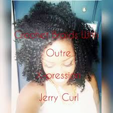 hair styles with jerry curl and braids outre x pression jerry curl crochet braids protective styles