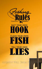 fishing rules bait hook camper or mens wall decal quote fishing rules wall vinyl sticker decal art lettering man cave camper decor loading zoom