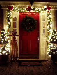 Christmas Decorations Outdoor Ideas - front door christmas decorating ideas christmas lights decoration
