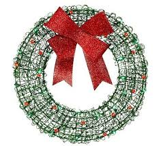 lighted christmas wreath wreaths and garland collection on ebay