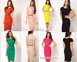 2015 vestidos formal button pencil vintage pinup bodycon fitted