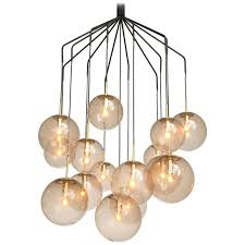 Spider Chandelier Large Spider Chandelier With 15 Spheres In Smoked Glass And