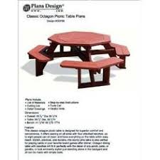 Build Your Own Octagon Picnic Table by Traditional Octagon Picnic Table Plans Pattern Odf05 Picnic