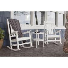 Polywood Patio Furniture Outlet by Trex Outdoor Furniture Yacht Club Charcoal Black 3 Piece Patio