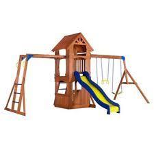 Backyard Cedar Playhouse by Kids Outdoor Playsets With Playhouse Swing Set Children Backyard