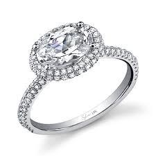 modern engagement rings modern east west oval cut diamond engagement ring diamond