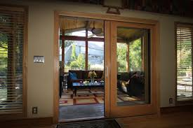 Patio French Doors With Blinds by Exterior Design White Slider Pella Doors With White Handle And