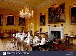 UK Yorkshire Ripon Newby Hall Regency Dining Room Stock Photo - Regency dining room