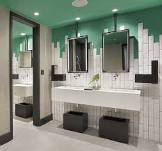 commercial bathroom design bathroom tile design idea stagger your tiles instead of ending