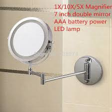 Bathroom Mirrors With Led Lights by Afsel Makeup Mirrors Led Wall Mounted Extending Folding Double