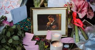 hundreds pay tribute to george michael at goring home and remember