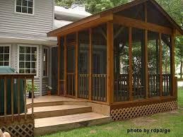 How To Build A Wood Awning Build A Screened Porch To Let The Outside In