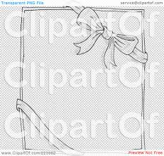 royalty free rf clipart illustration of a doodle sketch of a bow