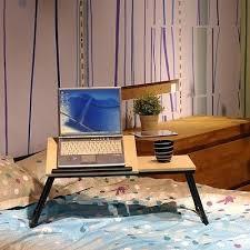 Folding Desk Bed Desk Lap Desk Bed Tray Alden Lap Deskbed Tray With Drawer Walnut