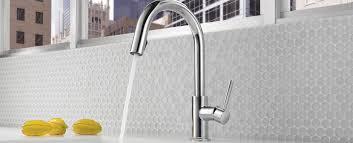 brizo solna kitchen faucet solna kitchen faucet chrome gray tile backsplash