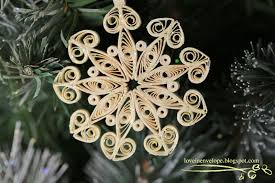 in envelope colored quilled snowflake handmade ornament