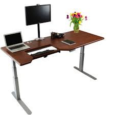 omega everest stand up desk with built in steadytype keyboard tray