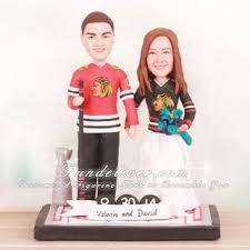 hockey cake toppers chicago blackhawks hockey wedding cake toppers fall wedding