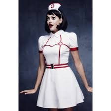 ladies nurse have mercy fancy dress fever costume 30447