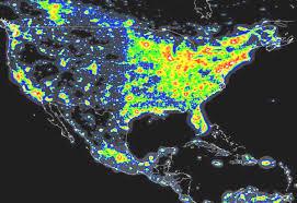 map usa place light pollution map usa