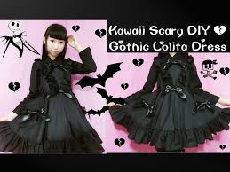 creepy kawaii background kawaii scary diy how to sew gothic dress curtain style