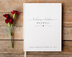 wedding book wedding guest book wedding guestbook custom guest book