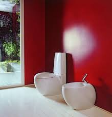 Red Accent Wall by Red Bathroom Paint Home Design Ideas