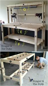 Diy Workbench Free Plans Diy Workbench Workbench Plans And Spaces by If The Over Hang Part Of Section A Extended The Length Of The