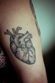 black heart tattoo anatomical tattoomagz