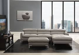 Grey Leather Sectional Sofa Light Grey Leather Sectional Sofa With Ottoman Decofurnish