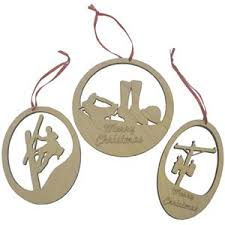 farwest line specialties other wood lineman ornaments set of 3