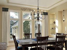 dining room window treatments home decor curtains for bay windows