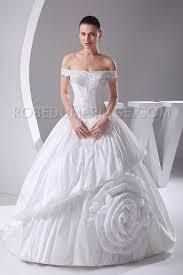 rob de mariage robe de mariage princesse taffetas fleur épaules déées