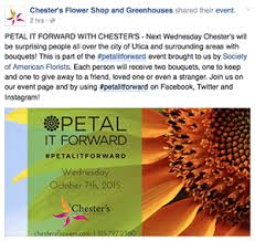 chesters flowers florists score press with petal it forward society of american