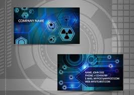 Circuit Board Business Card Free Bright Hi Tech Business Card Templates Vector 03 Titanui