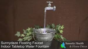 sunnydaze floating faucet indoor tabletop water fountain xss 003
