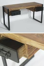 bureau style atelier bureau bois metal cheap bureau industriel par le marchand d oublis
