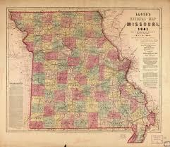 Map Missouri Lloyd U0027s Official Map Of Missouri 1861 Civil War Trust